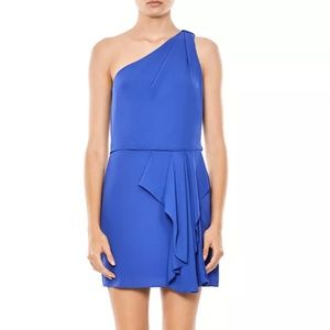 Halston Heritage One-Shoulder Ruffled Dress